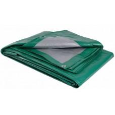 Тент Тарпаулин (фасованный 3*6м)(18кв.м)(плотность120г/кв.м) цв зеленый/серебро